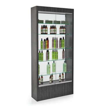 hair salon display cabinets rem quartz retail display 163 945 00 gilmor hair beauty