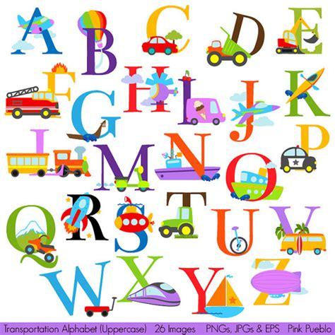 Transportation Alphabet Clipart Clip Art Construction