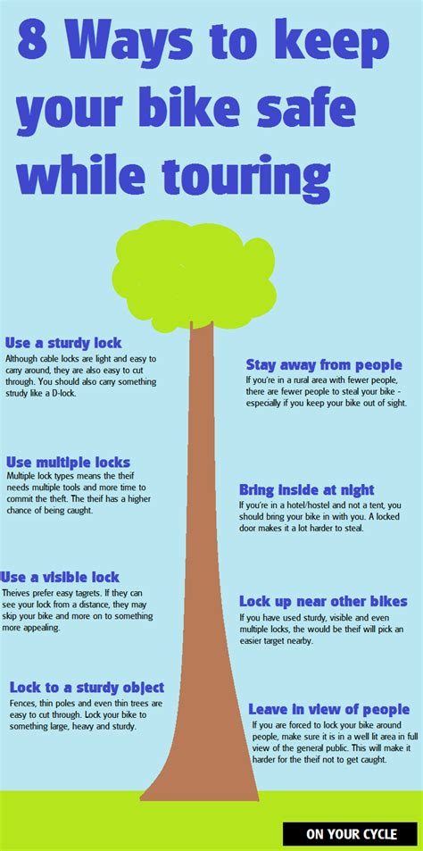 8 Ways To Hes A Keeper by 8 Ways To Keep Your Bike Safe While Touring Infographic