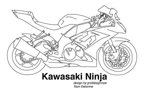 kawasaki ninja coloring page kawasaki vectoreel by grafdesignnow on deviantart