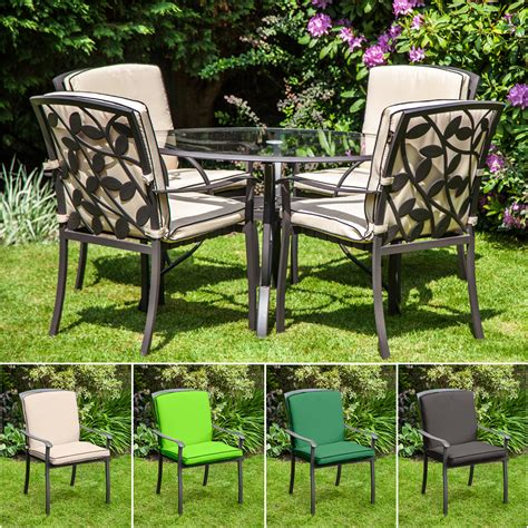 homebase for kitchens furniture garden decorating replacement cushion for homebase lucca metal garden patio dining chairs outdoor ebay