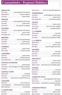unique holidays list of holidays in spanish