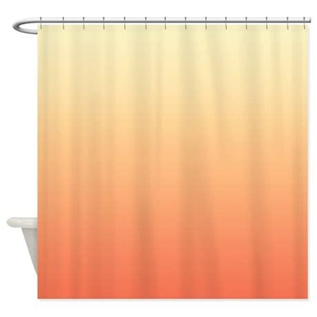 apricot colored curtains peach shower curtain by coppercreekdesignstudio