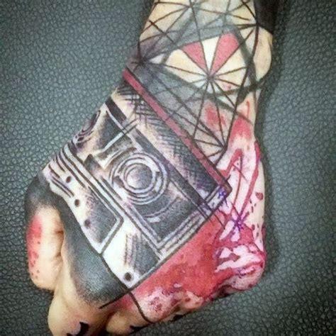 geometric hand tattoo 40 geometric hand tattoos for men pattern design ideas