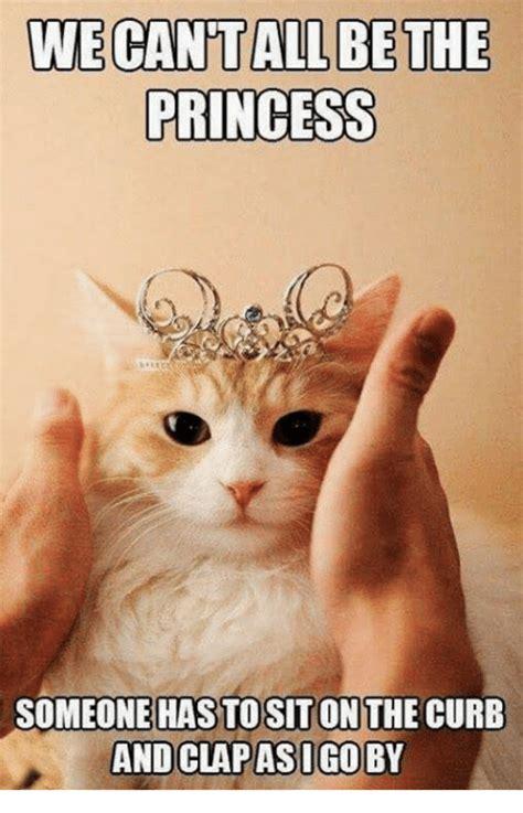 Birthday Princess Meme - wecantallbethe princess someone has to siton the curb