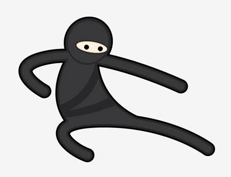 vector ninja tutorial create a simple vector ninja character in illustrator