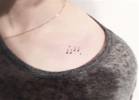 Minimalist Tattoo Music | 12 adorable minimalist tattoos that will make you want to