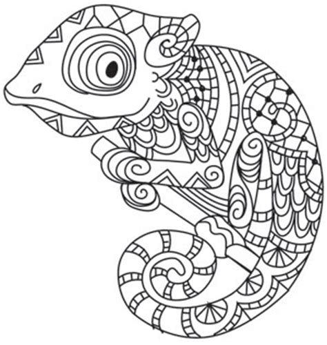 unique mandala coloring pages karma chameleon threads unique and awesome