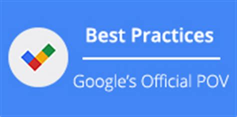 google design best practices google revs adwords best practices page