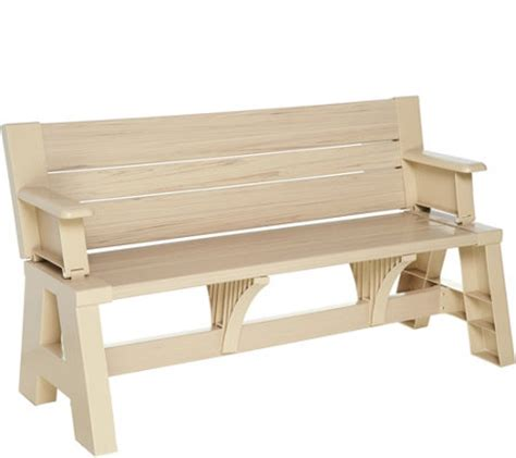 Bench To Table by Convert A Bench Faux Wood Outdoor 2 In 1 Bench To Table W