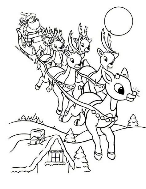 coloring pages of santa s 9 reindeer online rudolph and other reindeer printables and coloring