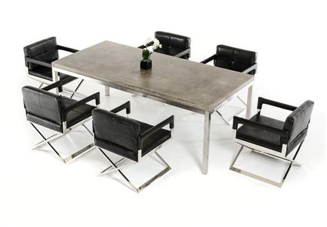 square concrete dining table concrete chrome rectangular dining table modern