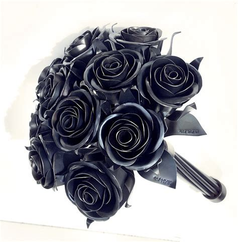 11th Anniversary Gift, 11 Steel Rose Bouquet, Metal Rose