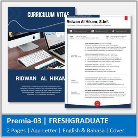 desain cv fresh graduate desain cv kreatif cv fresh graduate