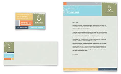 homeless shelter business card letterhead template word publisher