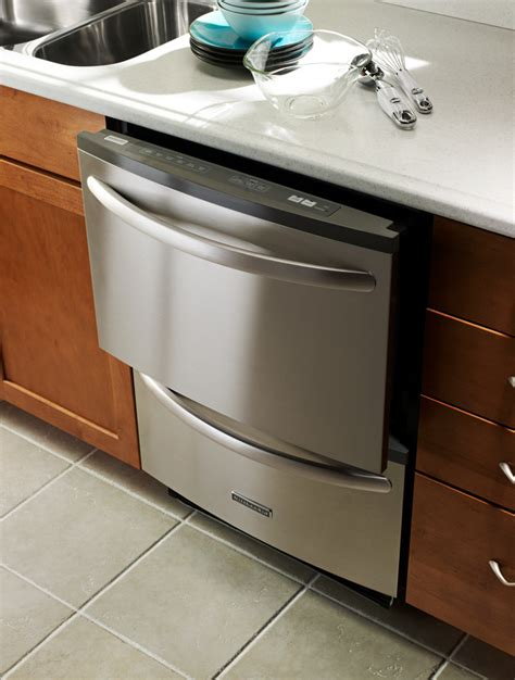 Dual Drawer Dishwashers by Kitchenaid Kudh03dt Fully Integrated Drawer