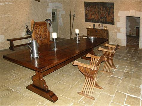 medieval style oak trestle table   french property