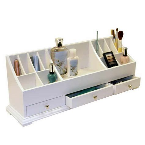 Vanity Organizers by Bloombety Cosmetic Organizer Countertop With White Color
