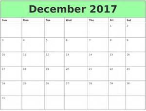 Calendar 2017 June To December December Calendars