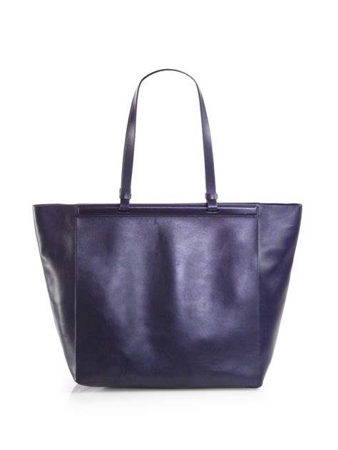 Bag Tote Navy the row large shopper tote bag in blue navy lyst