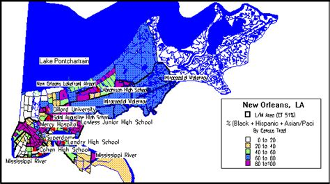 louisiana points of interest map new orleans consolidated plan executive summary