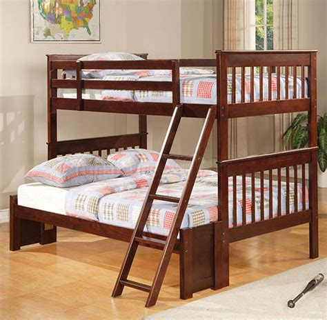 bunk bed full and twin cappuccino twin over full bunk bed bunk beds