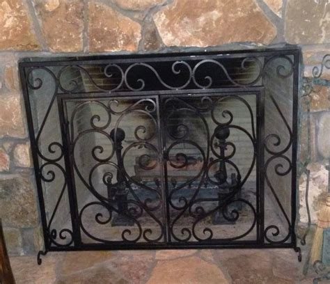 Custom Iron Fireplace Screens by 26 Best Images About Iron Fireplace Screens On