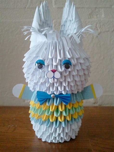 Origami 3d Rabbit - 3d origami bunny boy by akvees on zibbet