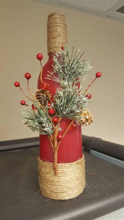 decoracion de botellas de vidrio vacias decoraci 243 n de la botella de vino de navidad bricolaje
