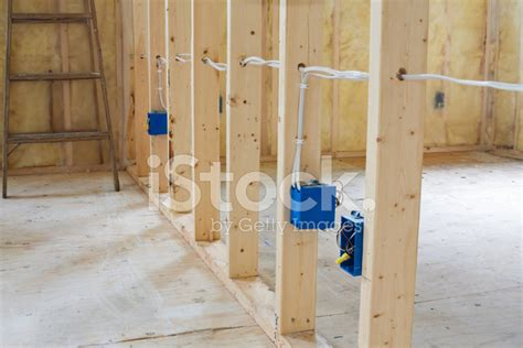 electrical wiring through studs stock photos freeimages