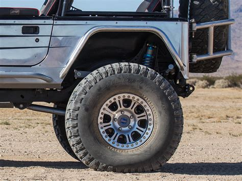 cj jeep wrangler genright rear tube flares for jeep cj and wrangler yj tj