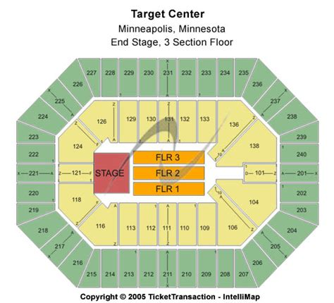 target center floor plan target center seating chart end stage 3 section floor