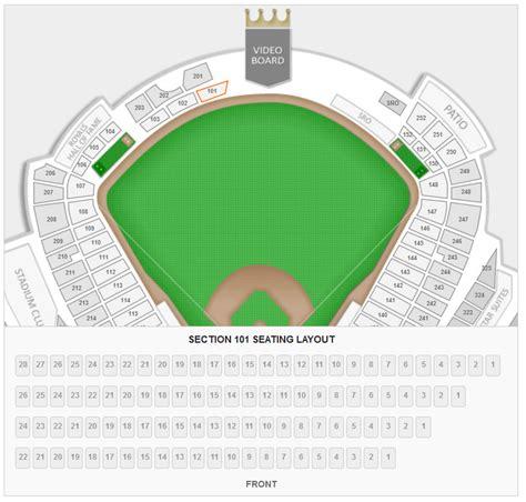 kansas city royals kauffman stadium seating chart