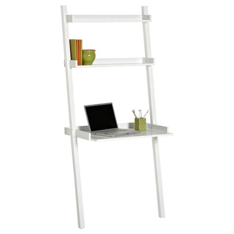 Leaning Desk White white linea leaning desk the container store