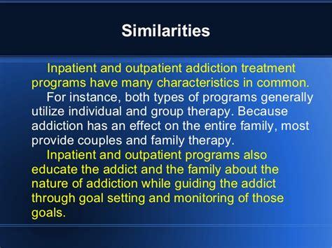 Outpatient Detox Units Vs Institutions by Outpatient Vs Inpatient Treatment