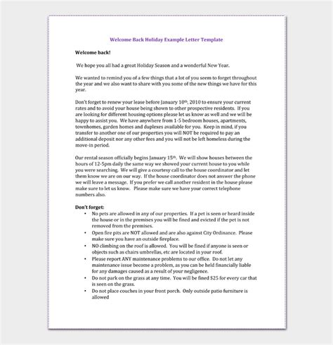 write holiday letter template examples