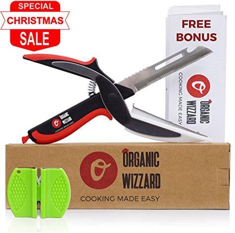 universal knife 6 in 1 food chopper food scissors slicer organic wizzard organic wizzard kitchen knife with cutting