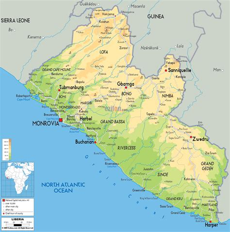 africa map liberia maps of liberia map library maps of the world