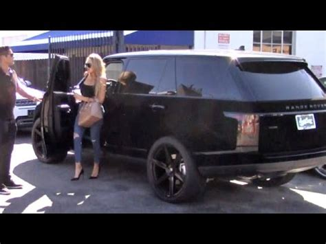 velvet car khloe khloe shows velvet covered range rover
