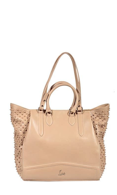 Christian Louboutin Leather Loubette Purse by Christian Louboutin Bag Justine Leather And Studded Tote