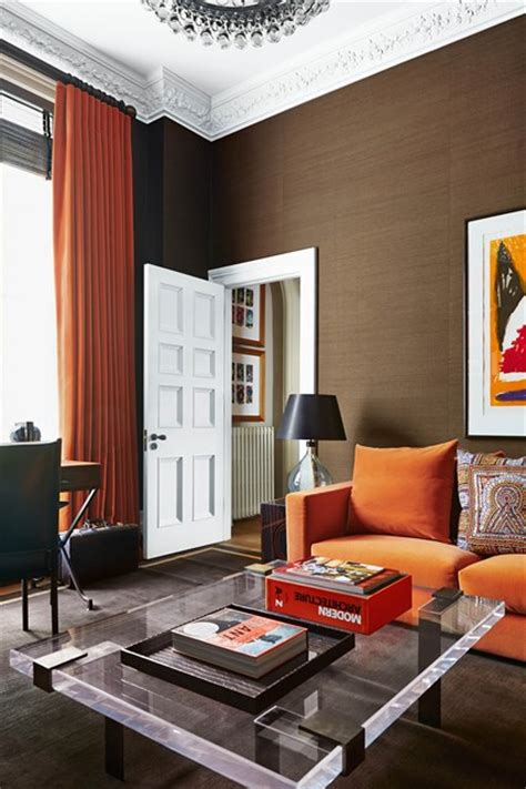 Living Room Ideas Orange And Brown by Modern Brown And Orange Modern Living Room Ideas