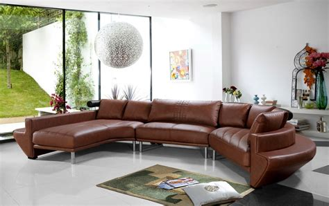 Jupiter Sectional Sofa by Jupiter Brown Leather Sectional Sofa