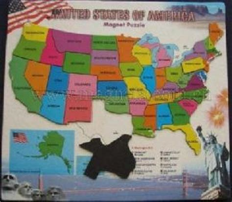 magnetic map puzzle magnetic usa map puzzle