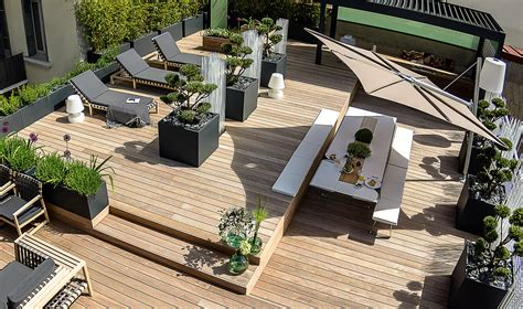 toit terrasse 06 image in large planters for bamboo and shrubs on rooftop