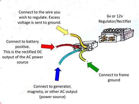 6 wire regulator wiring diagram 250cc go kart dune buggy