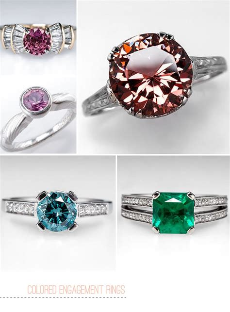 colored engagement rings colored gemstone engagement rings from eragem green