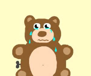 teddy bear crying drawing peque 195 177