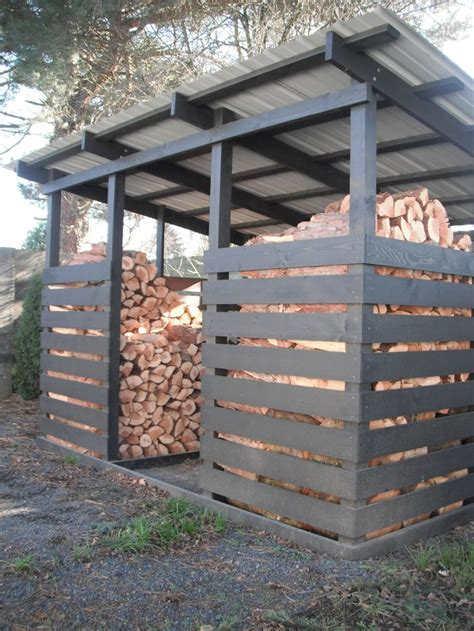 build firewood rack for stacking firewood storage shed plans a simple solution
