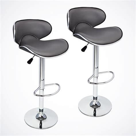 Stool Chair - new 2 pcs gray modern bar stool adjustable height swivel