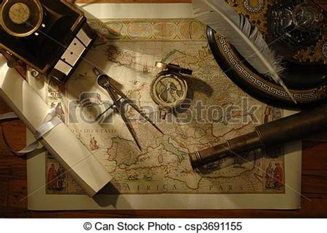 old boat navigation tools stock images of charting the course nautical navigation